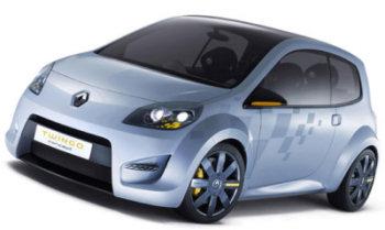 Présentation du design extérieur du concept-car Renault Twingo Concept, version maquillée en sportive de la future Renault Twingo 2..