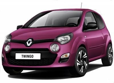 La Renault Twingo 2 subit un important restylage en 2012, pour contrer l'arrivée de nouvelles concurrentes aux dents longues (dont la Volkswagen Up!). Sa face avant est profondément modifiée, par l'ajoût de feux anti-brouillard ronds sous les optiques avant, à la manière d'un Nissan Juke, et d'une calandre qui tente d'intégrer les dernières évolution du nouveau design Renault impulsé par Van Den Ackers, que lon retrouve sur les concept-car Renault Dezir ou Captur.
